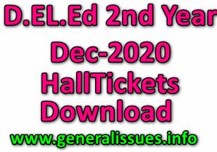 AP D.El.Ed 2nd Year Exams Hall Tickets 2020