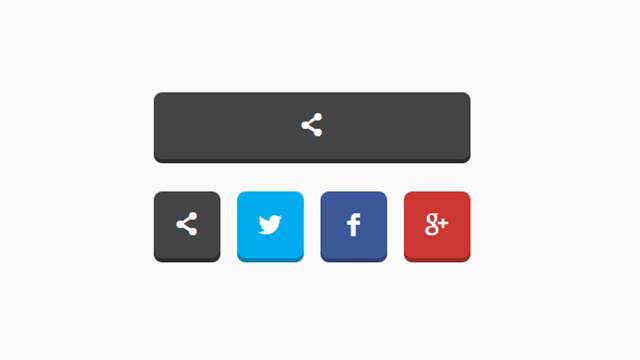 Animasyonlu Sosyal Paylaşım Butonları