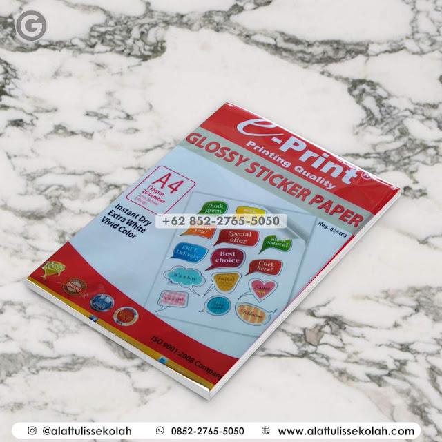 Kertas Glossy Sticker Paper | +62 852-2765-5050