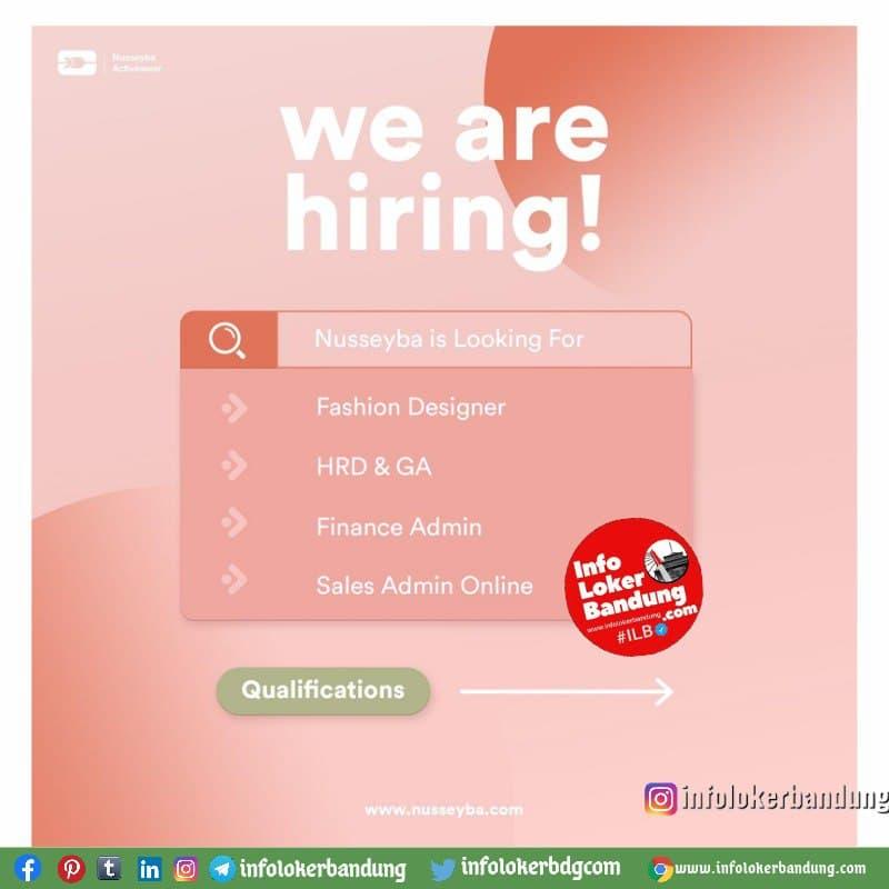 Lowongan Kerja Nusseyba (@nusseyba.id) Bandung Juni 2021