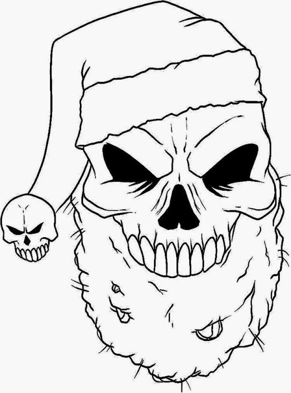 Scary skulls coloring pages ~ Scary Demon Skull Coloring Pages Coloring Pages