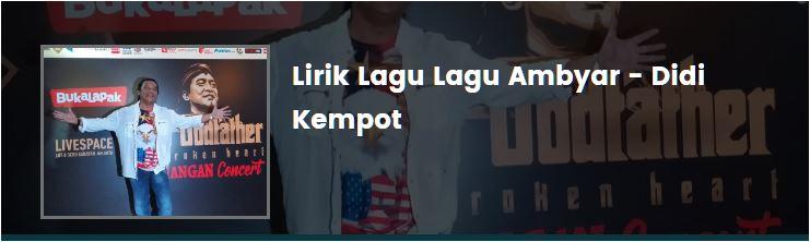 Lirik Lagu Ambyar Didi Kempot Warsito