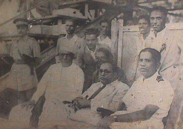 Dr. Ambedkar watching a football match at Cooperage, Bombay, organised by the Dr. Ambedkar Sporting Club