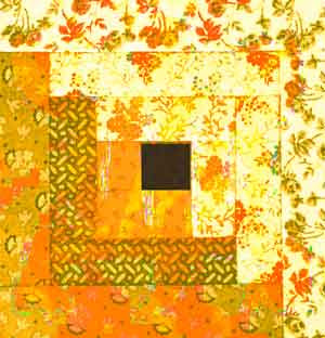 Log Cabin quilt pattern hung on the fence of an anti-slavery safe house it symbolized danger or safety.
