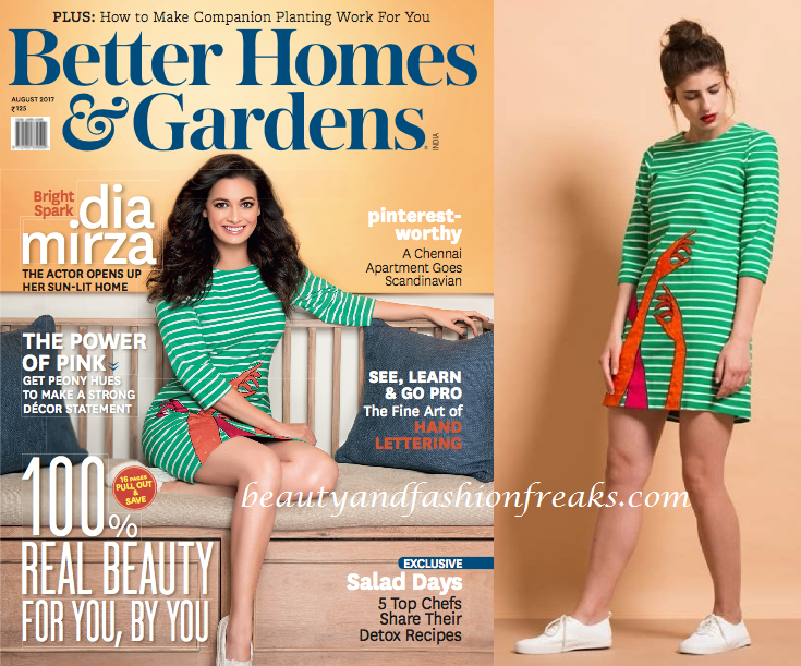 Dia Mirza In Shahin Mannan For Better Homes and Gardens Magazine August 2017