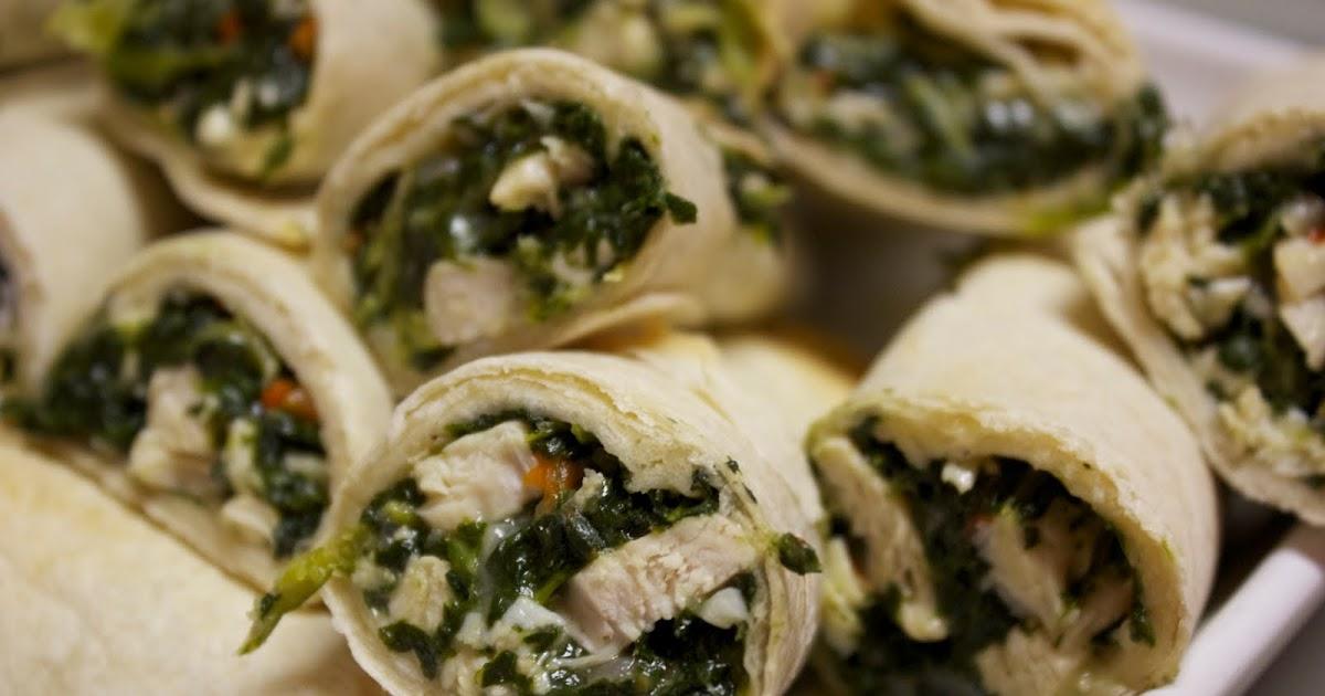 Friendly Kitchen Chicken Spinach Roll Ups