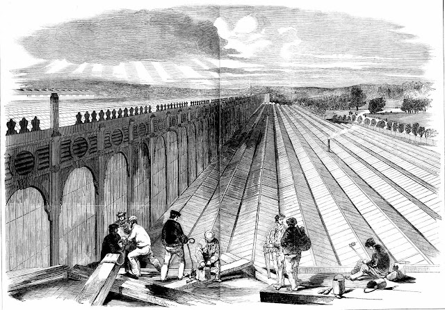earlier construction of an illuminating roof at the 1851 Great Exhibition London