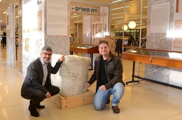 Dr. Gil Gambash, left, with Dr. Assaf Yasur-Landau