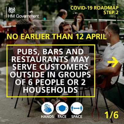 UK Gov COVID Roadmap Business Step 2 April 1 of 6