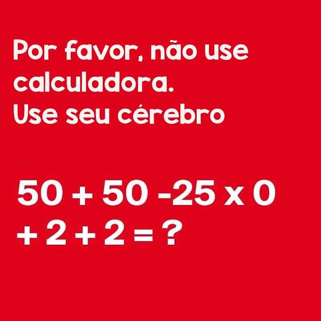 Expressão numérica seguindo a ordem dos elementos