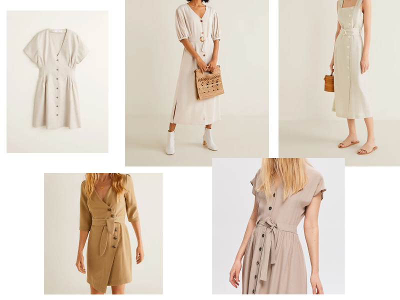 sukienka guziki guzikami blog