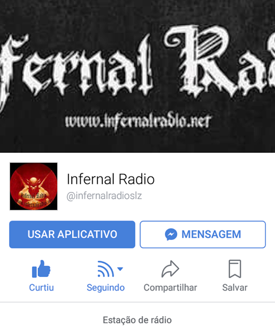 Infernal Radio no Facebook