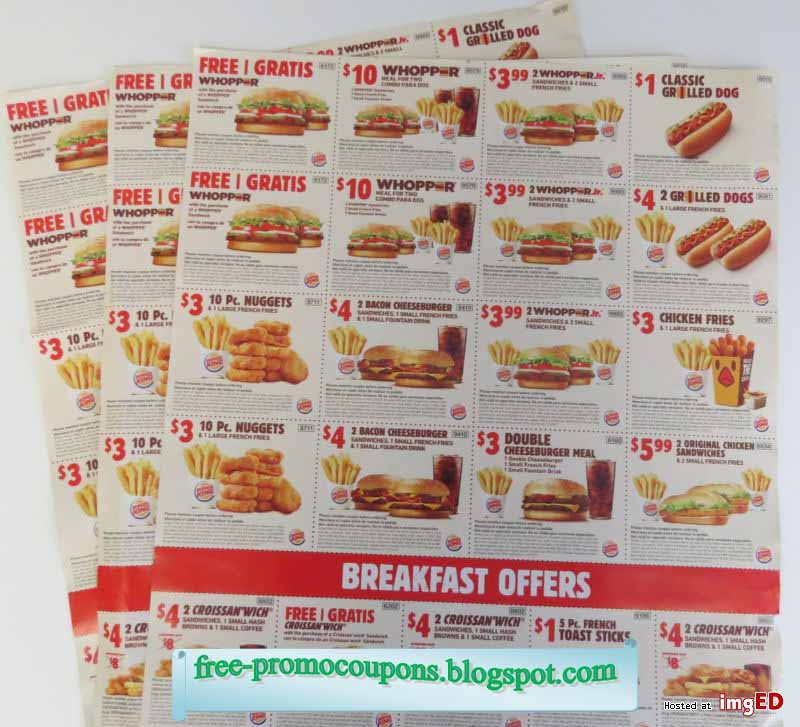 This is a picture of Stupendous Burger King Coupons Printable 2020