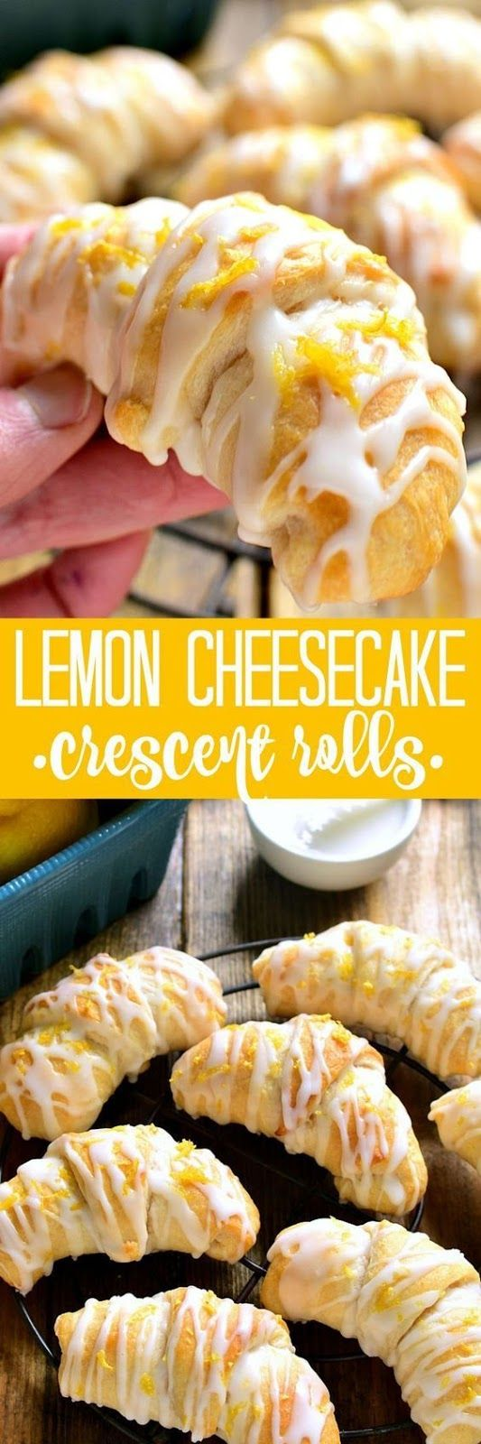 Lemon Cheesecake Crescent Rolls are bursting with delicious lemon flavor! These flaky crescent rolls are filled with creamy lemon cheesecake and topped with a sweet citrus glaze. The perfect brunch recipe!