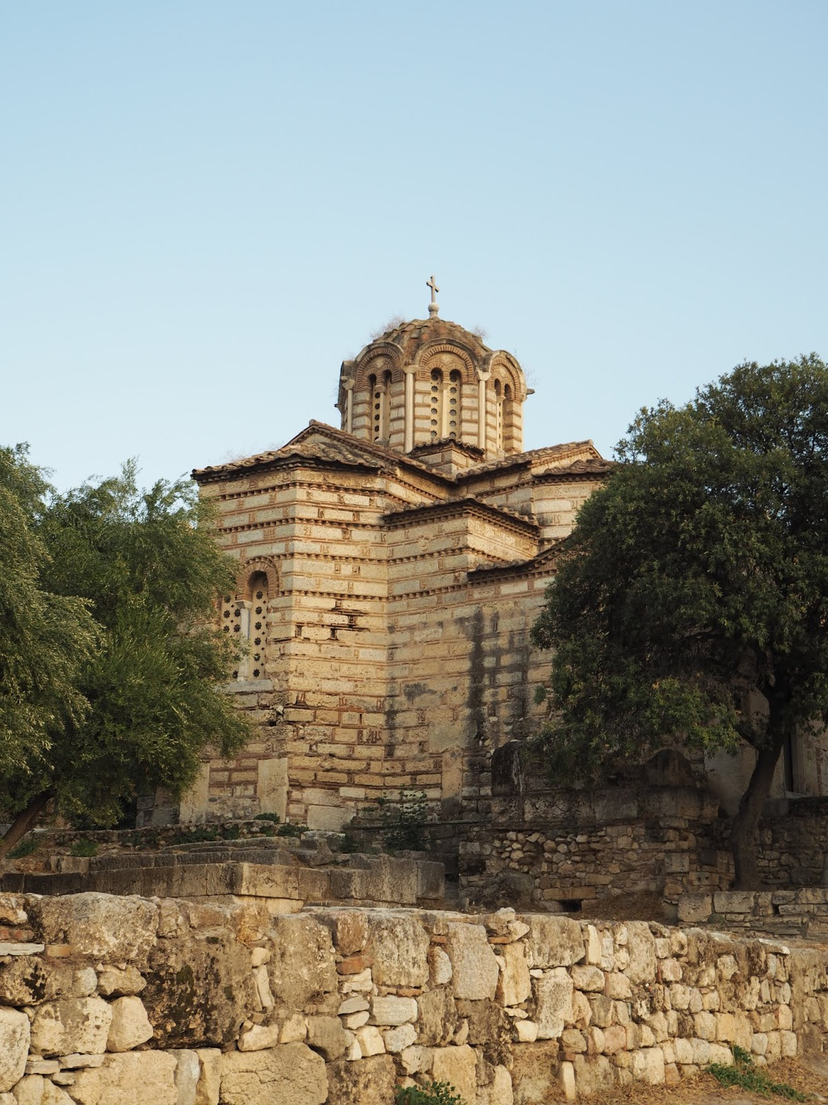 ancient greek church north slope acropolis athens