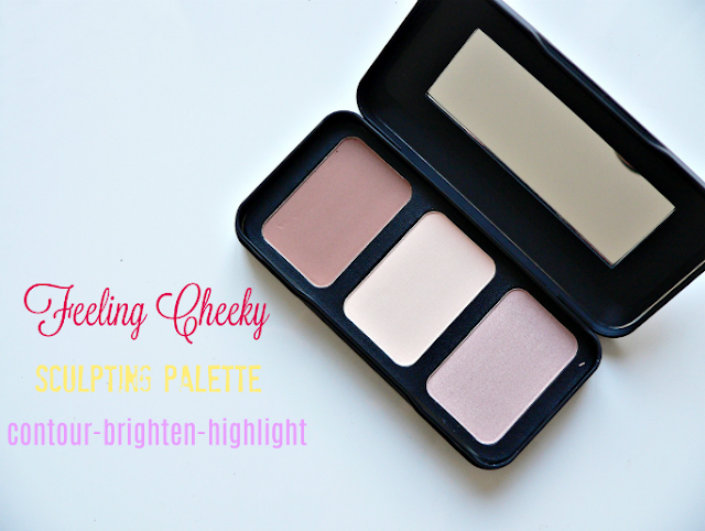 Barry M Feeling Cheeky sculpting palette review swatches palette highlighter contour beautyblogger bblogger