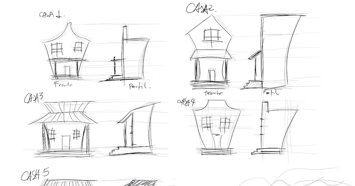 HugoTorres3d: Sketches of the houses (Croquis das casas)