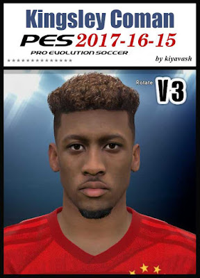 PES 17 Kingsley Coman Face by kiyavash