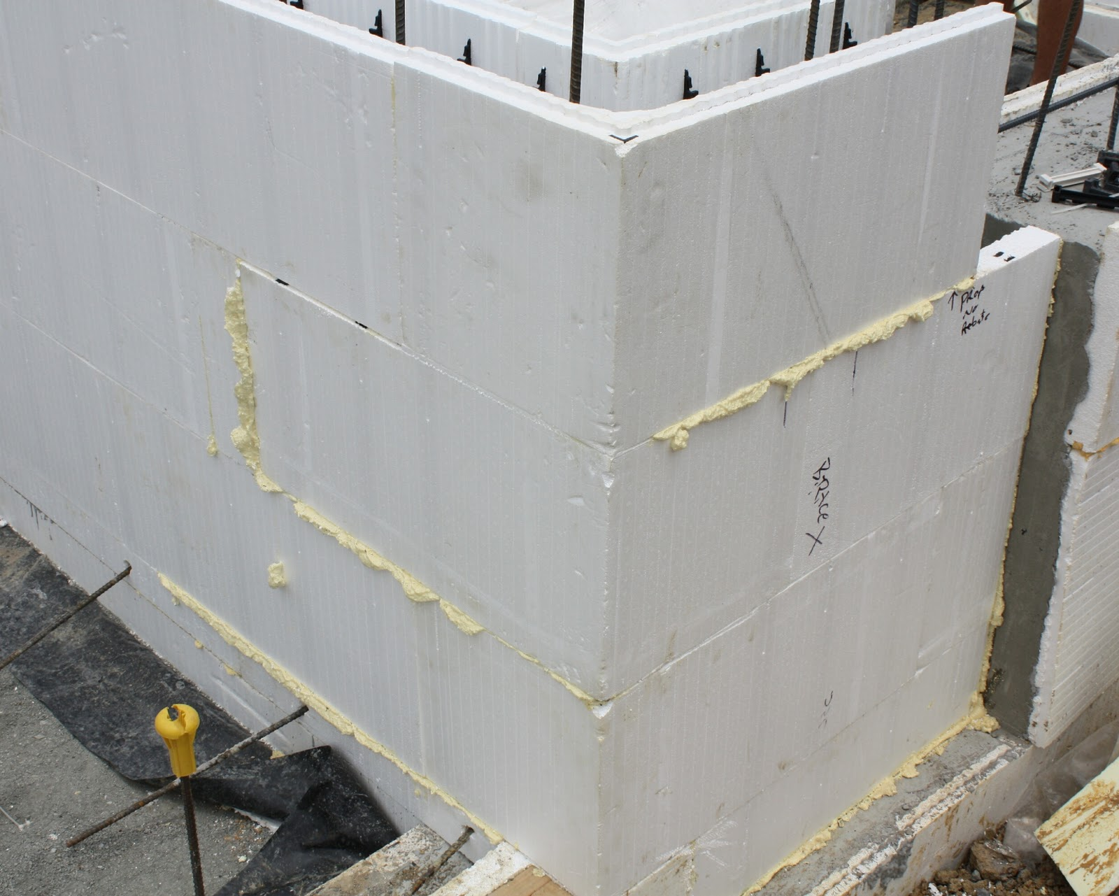 The Polystyrene Blocks Are Sealed With An Expanding Gap Filler