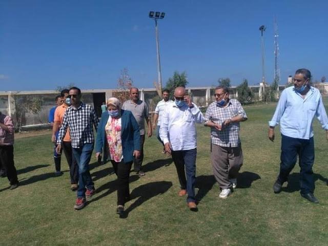 متابعة جهود الوحدة المحلية لمركز ومدينة رشيد .