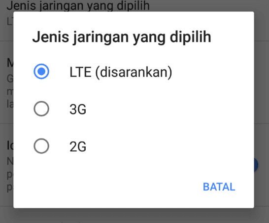 Cara setting 4G Only Indosat
