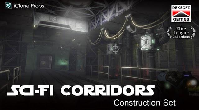Free Iclone Props - Sci-fi Corridor