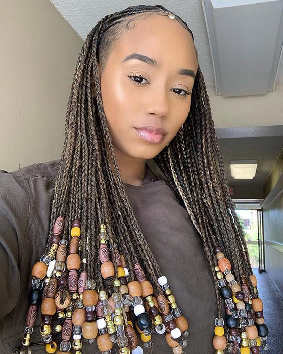 23 Best Ponytails Braids With Beads 2020 For Natural Hair