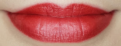 Avon True Luminous Velvet Lipstick swatch in Red Flash