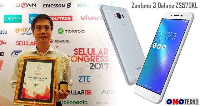 Penghargaan Prestisius Dari Selular.ID Untuk Zenfone 3 Deluxe ZS570KL dan Zenfone 3 Max ZC553KL