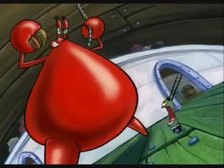 Polosan meme tuan krab 27 - tuan krab jadi titan, tuan krab menjadi raksasa di mata si plankton