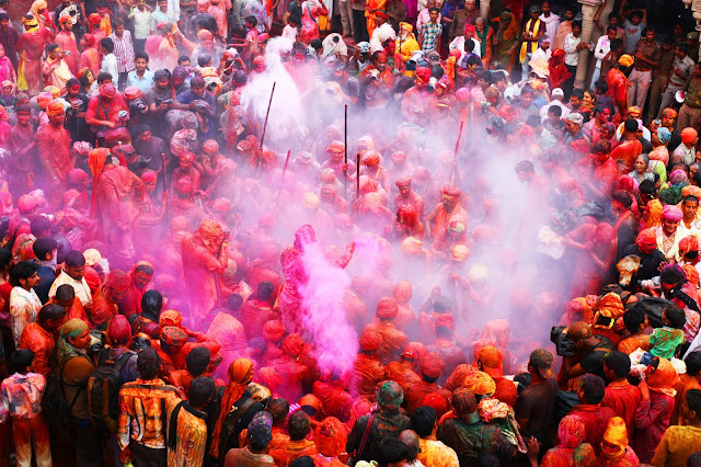 HE FAMOUS LATTHMAR HOLI OF BARSANA INDIA 2020