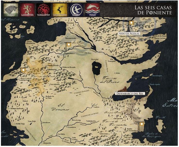 Juego de tronos el Mapa interactivo de Antena 3