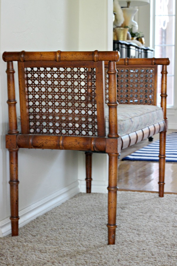 HOW TO RECOVER AN UPHOLSTERED BENCH OR CHAIR SEAT {BAMBOO BENCH ...