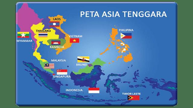 Peta Asia Tenggara Beserta Negaranya