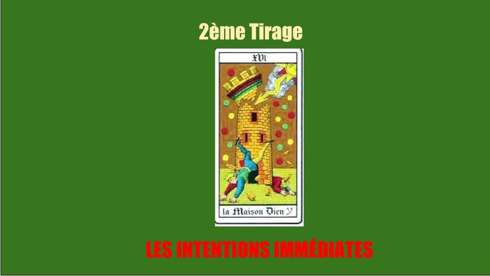 9b4f07cb78944 Le deuxieme tirage tarot de marseille gratuit immediat avec la carte de la  maison Dieu