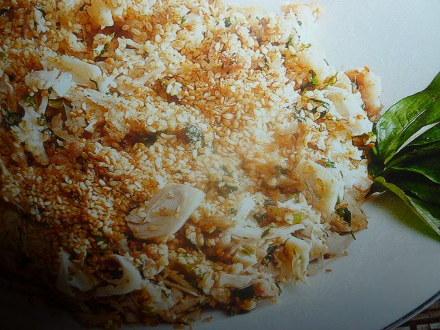 la cucina vietnamita insalata amara