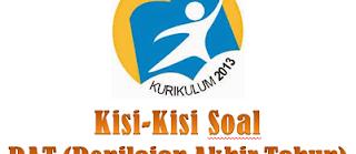 Kisi-kisi Soal PAT SMP Semester 2 Kurikulum 2013 Revisi Terbaru