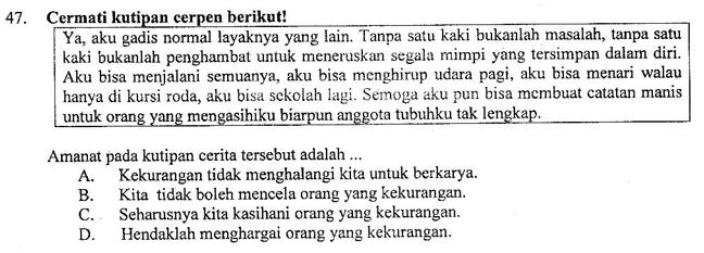 Contoh Soal Dan Pembahasan Tentang Amanat Cerita Zuhri Indonesia