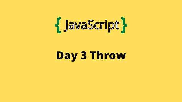 HackerRank Day 3: Throw 10 days of javascript solution