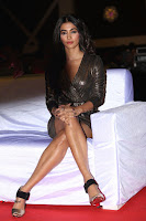 Pooja Hegde looks glamarous in deep neck sleevless short tight golden gown at Duvvada Jagannadham thank you meet function 082.JPG