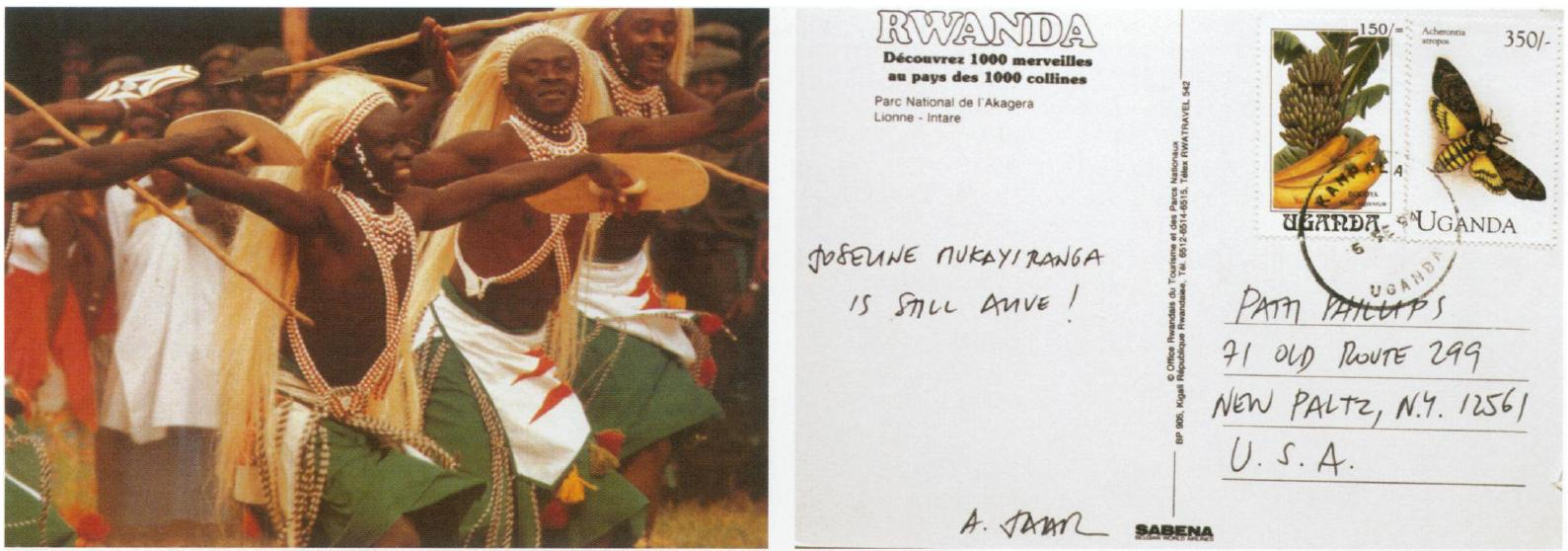 deogratias and the representation of the rwandan genocide to sp awareness about the genocide by speaking for survivors while the pleasant fronts of the postcards speak to the fact that the rwandan genocide