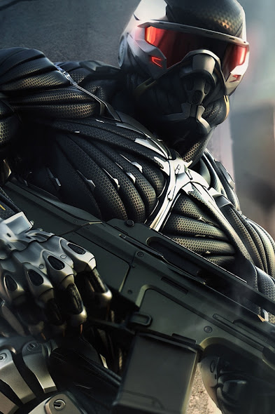 Crysis 2 download free wallpaper for Apple iPhone 4