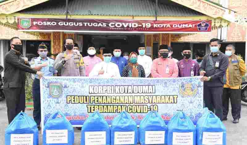 Korpri Dumai Beri Dana Bantuan 234 Juta Ke Tim Gugus Penanganan Covid-19
