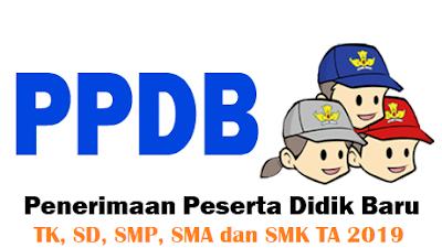 Persyaratan calon peserta didik baru TK, SD, SMP, SMA dan SMK Tahun 2019