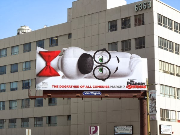 Mr Peabody Sherman special movie billboard
