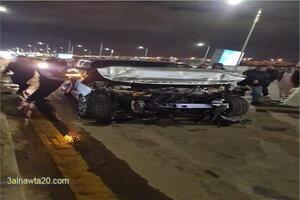الإعلامي عمرو أديب مقدم برنامج الحكاية يتعرض لحادث سيارة