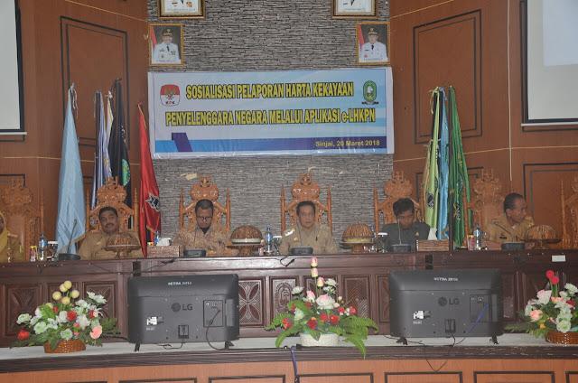 Tim KPK Berikan Sosialisasi e-LHKPN di Kantor Bupati Sinjai