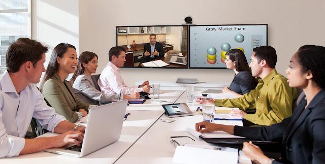 Hội họp với thiết bị họp trực tuyến Polycom