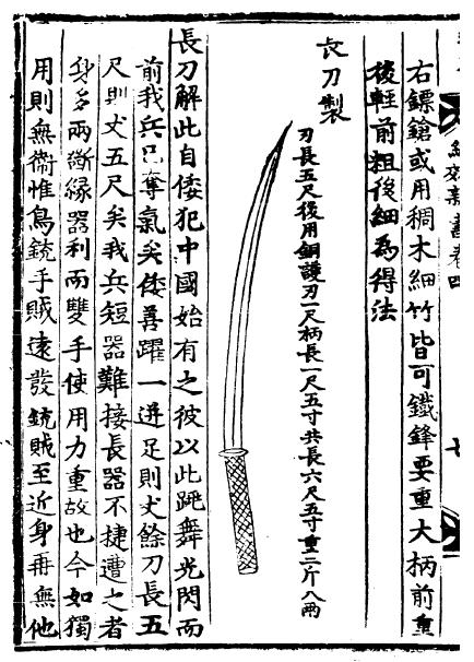 Chinese Changdao Long Sabre
