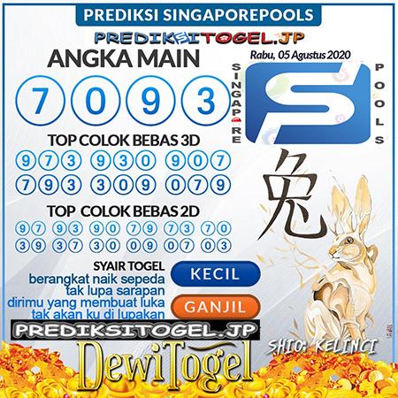 Prediksi Dewi Togel Singapura Rabu 05 Agustus 2020